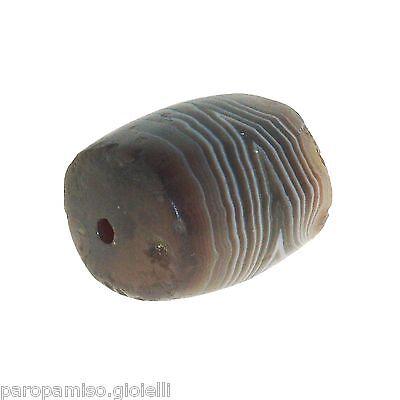 Striped Agate Bead from China-Tibet,    中国古董有条纹的玛瑙珠  (0485)