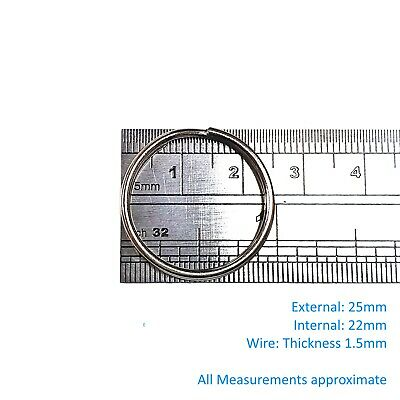 Split Rings Key Ring - 15mm 20mm 25mm 30mm 35mm - Pack Size 10 to 1000 - keyring 2