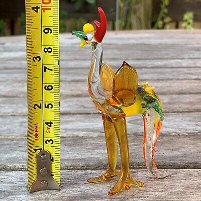 "Vintage Italian Murano Art Glass Miniature Animal Figurine Cock Cockerel 4""/10cm 8"