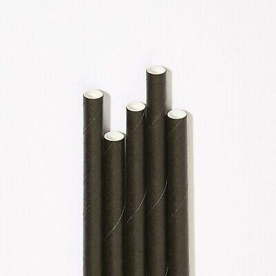 Bulk Paper Straws drinking straw trade  6mm x 200mm Black 1000 / 5000 /10000 8