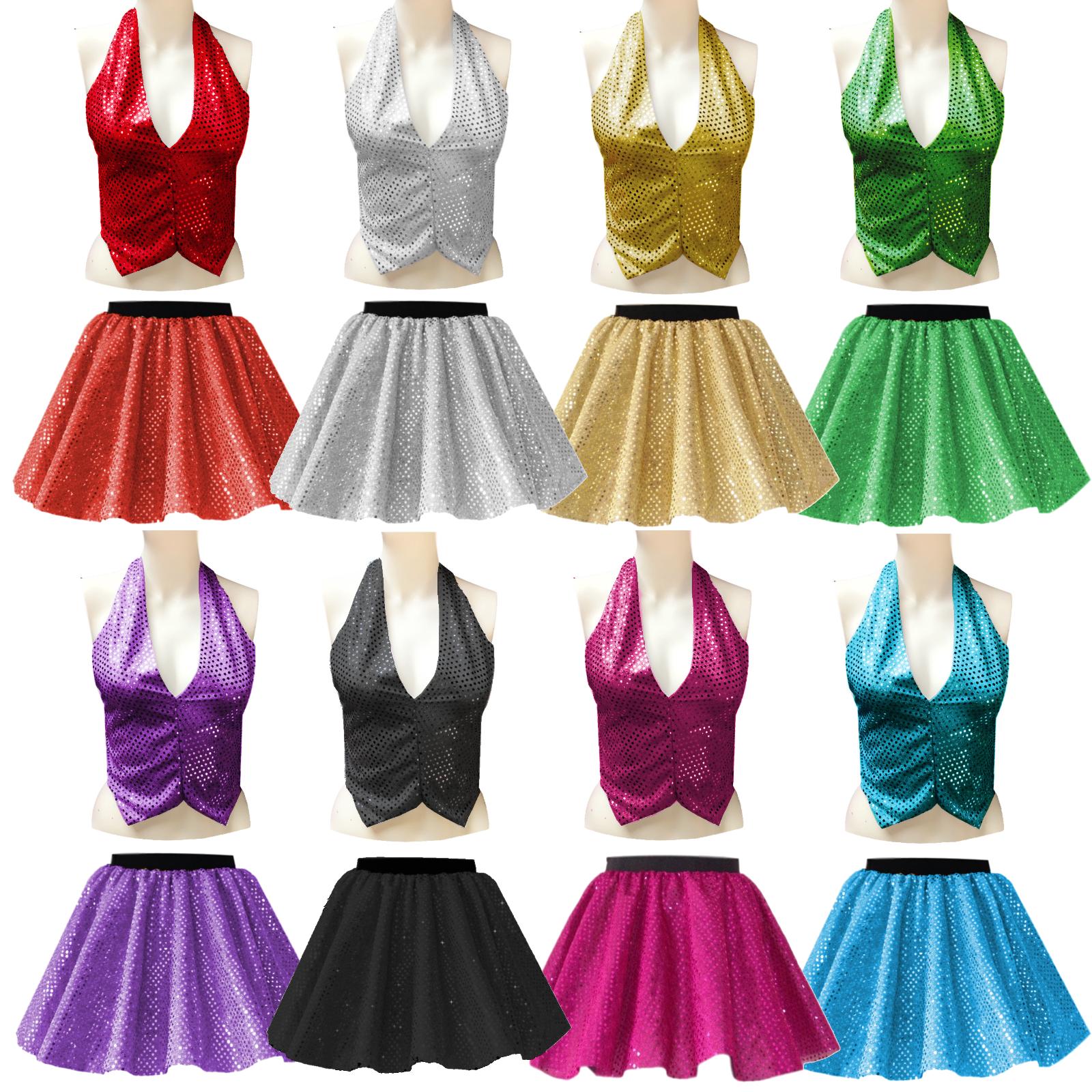 Girls Ringleader The Greatest Showman Costume Sequin Skirt Or