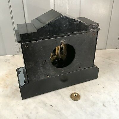 Antique Victorian black slate mantel clock - restoration project 8