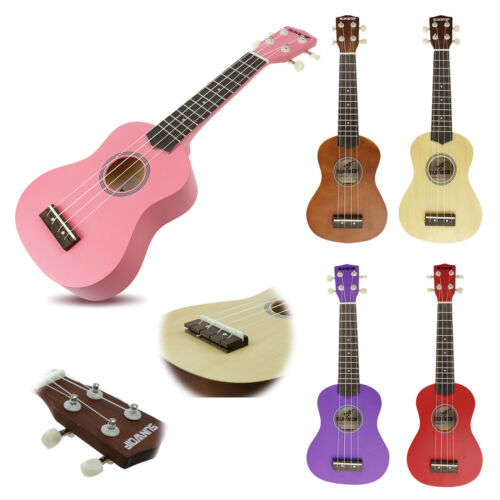 SUNWOLF Classic Beginners Soprano Ukulele Hawaii Solid Instrument + Free Bag 3