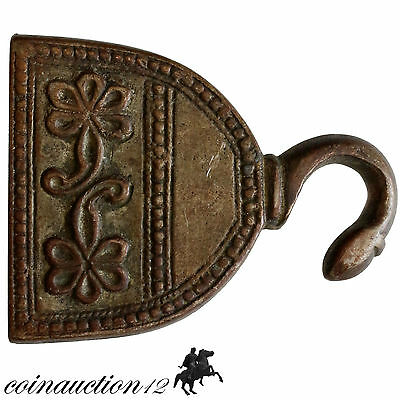 Ottoman Style Greek Silvered Buckle With Monograms 1800-1900 Ad 2
