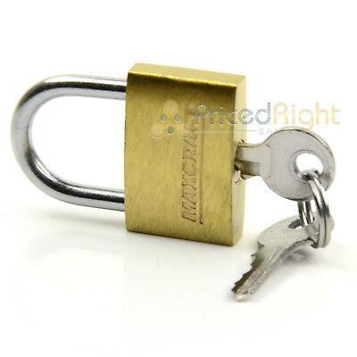 "2 pack Lot 1"" Inch Key Padlock Mini Tiny Small Brass Lock Luggage Toolbox Box 2"