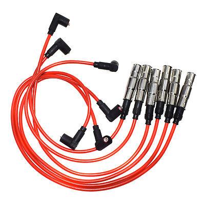 6 Pcs 12v Spark Plug Wire Kit Fit for Volkswagen Jetta 1999-2003 2.8L Car