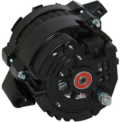 NEW CHROME CHEVY ALTERNATOR 140 AMP HIGH OUTPUT with 6 GROOVE PULLEY  65-85