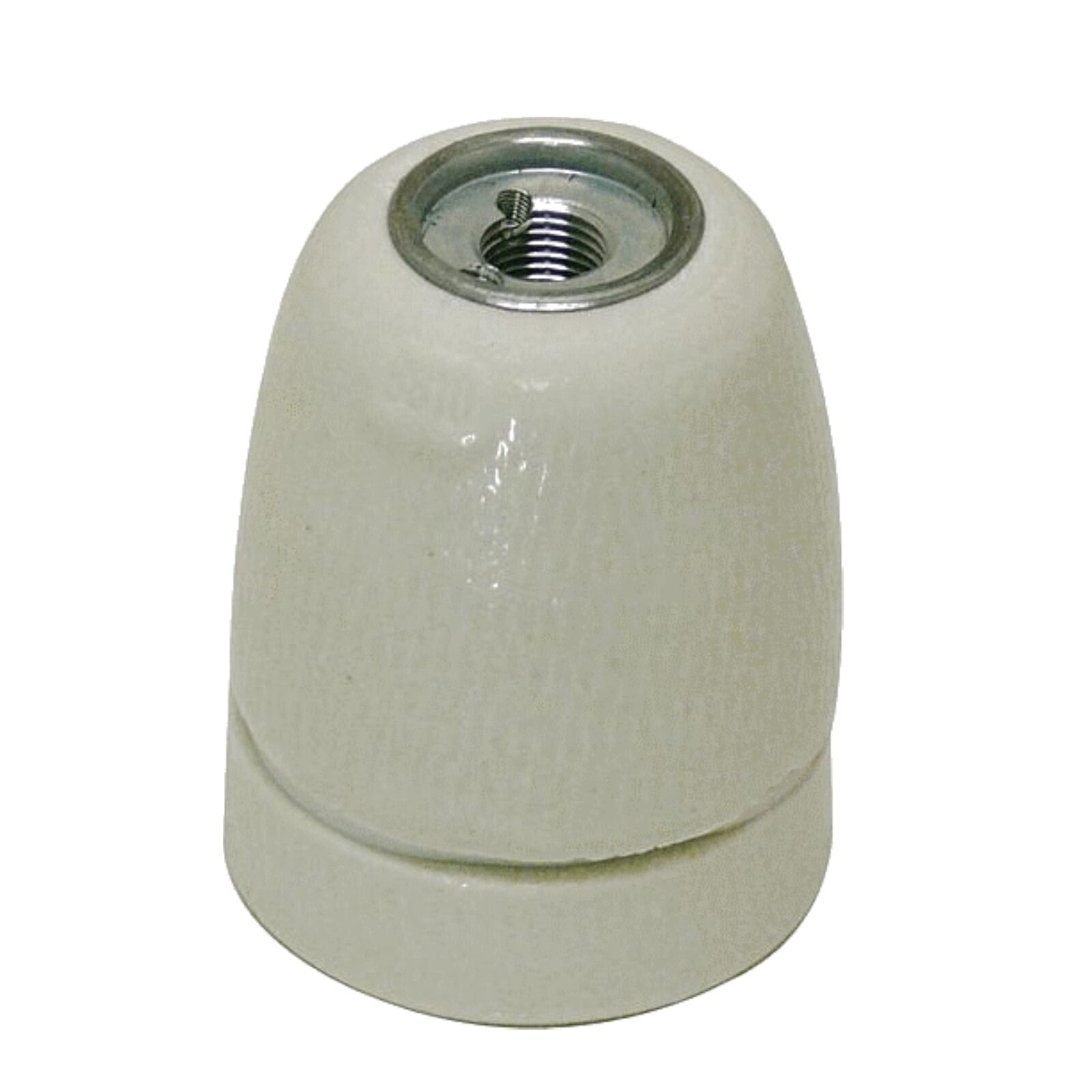 Porzellan–Fassung E27 500 Volt Lampenfassung glasiert Porzellanfassung E606060
