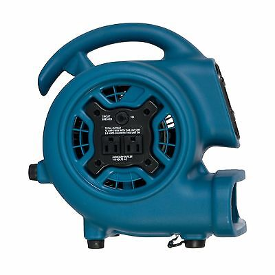 XPOWER P-260AT Mini Scented Air Mover, Carpet Dryer, Utility Fan blowing 800 CFM