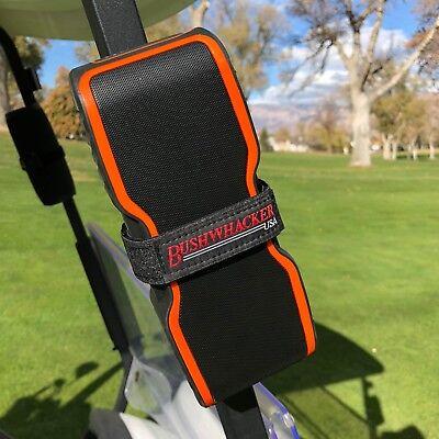 Bushwhacker Speaker Mount for Golf Cart Railing Blue Tooth Holder Wireless Bar 4