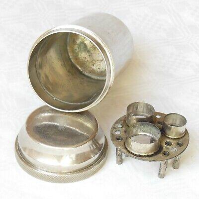 DREI-PFEIL MARKE - MAXIMUS antike Box für Spritzen und Nadeln Sterilisator WW2 7
