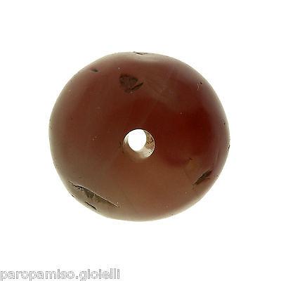 Rare Round Buddhist  Pema Raka (Nan Hong) Bead,China-Tibet.古色古香的圆形玛瑙石 (0694)) 6