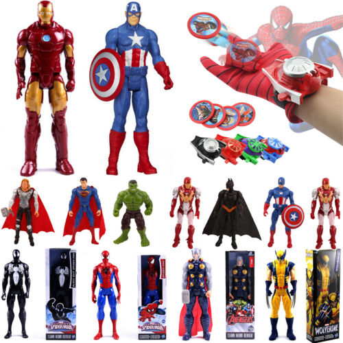 Superheld Spiderman Figur Action Figuren & Handschuhe Kinder Launcher Spielzeuge 2