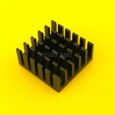 20pcs Black Aluminum Heat Sink for Computer CPU Memory Chip IC 22x22x10mm