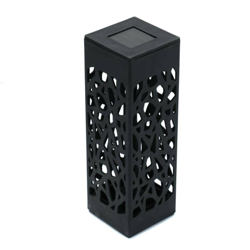 Solar 4 pcsPowered Garden Post Lights Waterproof LED Outdoor Patio Yard Lawn 4