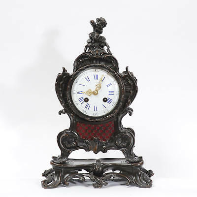 Japy Freres Antique French Bronze Rococo Table Clock Music Fully Working C1890 4