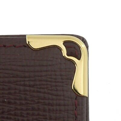 Authentic Cartier Must Line Agenda Day Planner Cover Bordeaux Leather #f135091 6