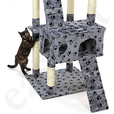 Cat Tree Activity Centre Scratcher Scratching Post Kitten Play Toy Scratch Bed 9