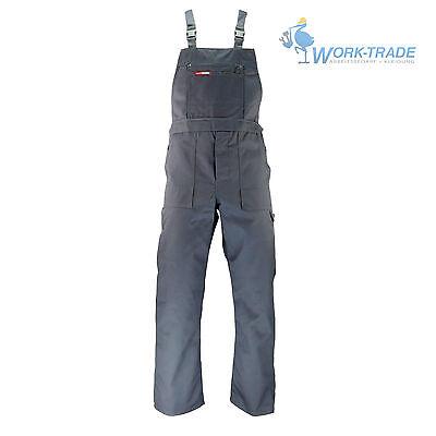Arbeitslatzhose Arbeitskleidung Grau Latzhose Blaumann Arbeitshose Gr. 48 - 62