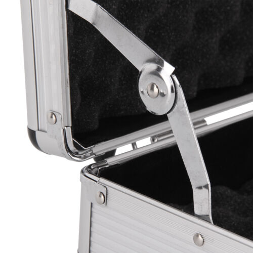 Aluminium Pistol Gun Case Storage Lockable Flight Case Foam Tool Box Secured UK 7