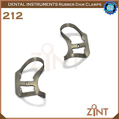 Rubber Dam Universal Clamps Upper & Lower Premolar Anterior Medesy Basic Set New 10