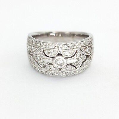 Ladies Ring 18ct (750, 18K) White Gold (0.55ct) Natural Diamond Dress Ring 3