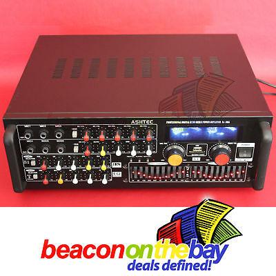 ASHTEC 1200w Bluetooth Mixer Amplifier Speakers Cordless Microphone Karaoke DJ 3