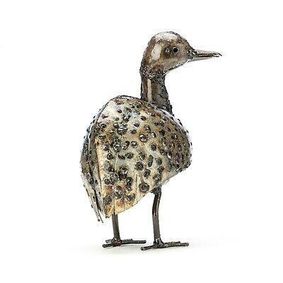 Handmade Recycled Metal Bird Metal Guinea Fowl Garden Ornament Sculpture Art