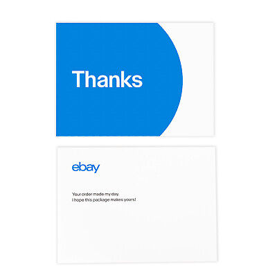 "NEW EDITION 3-Color, eBay-Branded 5.5"" x 4"" Thank You Postcards Multi-Pack 2"