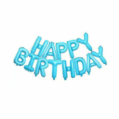 Happy Birthday Balloon Banner Bunting Self Inflating Letters Foil Balloons Party 9