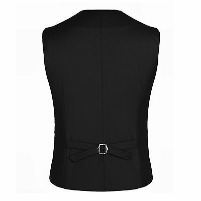 Mens Waistcoat Formal Business Suit Retro Vest Slim Wedding Fit Casual Coat Tops