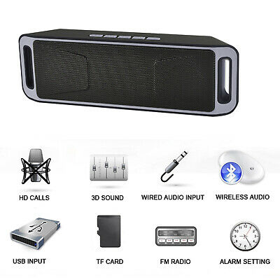 Mini Altavoz Bluetooth Inalámbrico Radio FM Reproductor de MP3 Estéreo Portátil 4