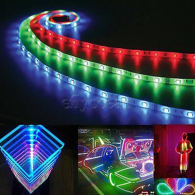 1-30m RGB LED Strip Light Waterproof SMD 5050 Flexible IR Controller Adapter 12V 3