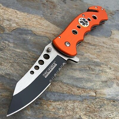 Tac Force Spring Assisted Emergency EMT EMS Rescue Handy Medical Pocket Knife