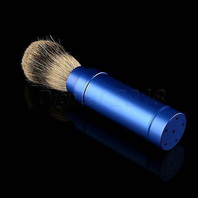 1PC Travel Shaving Brush Pure Badger Hair Removable Aluminum Handle Portable 3