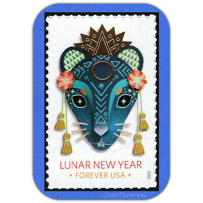 2020  YEAR of the RAT Lunar New Year USPS  Forever® Individual MINT Stamp # 5428 2