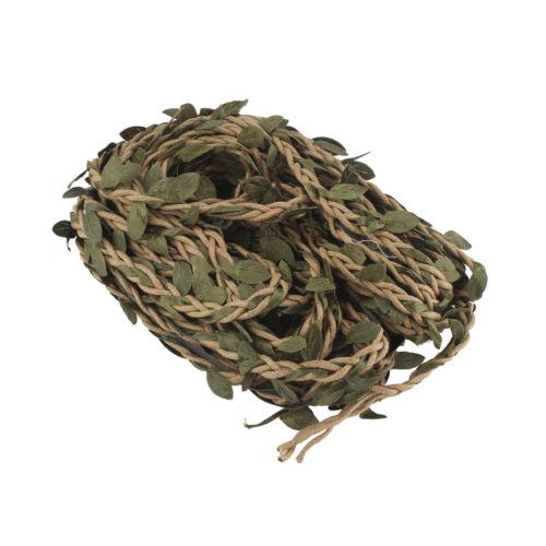 Artificiel Lierre Vigne Rotin String Vine Ivy Leaf Garland Vines Rattan 10M 5