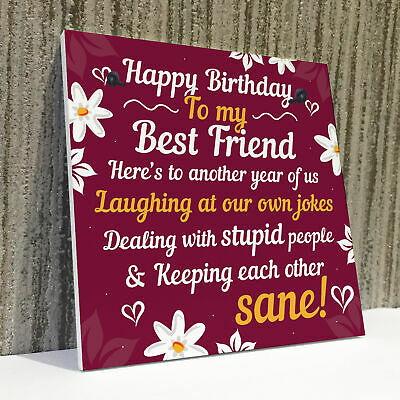 Tremendous Happy Birthday Card Best Friend Birthday Gift Friendship Plaque Funny Birthday Cards Online Aboleapandamsfinfo