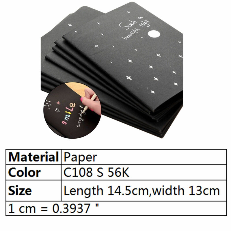 56K Black Paper Graffiti Notebook Sketch Book Diary For Painting Notepad Drawing 3 3 of 12 ...
