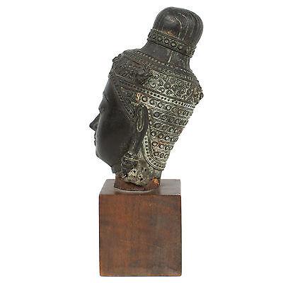 Thailand 17./18. Jh. Bronzekopf - A Thai Bronze Head of Buddha- Tête De Bouddha