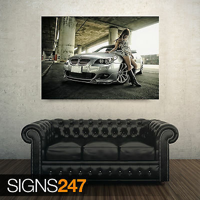 CAR POSTER Photo Picture Poster Print Art A0 to A4 AB309 BMW 1 SERIES WHITE