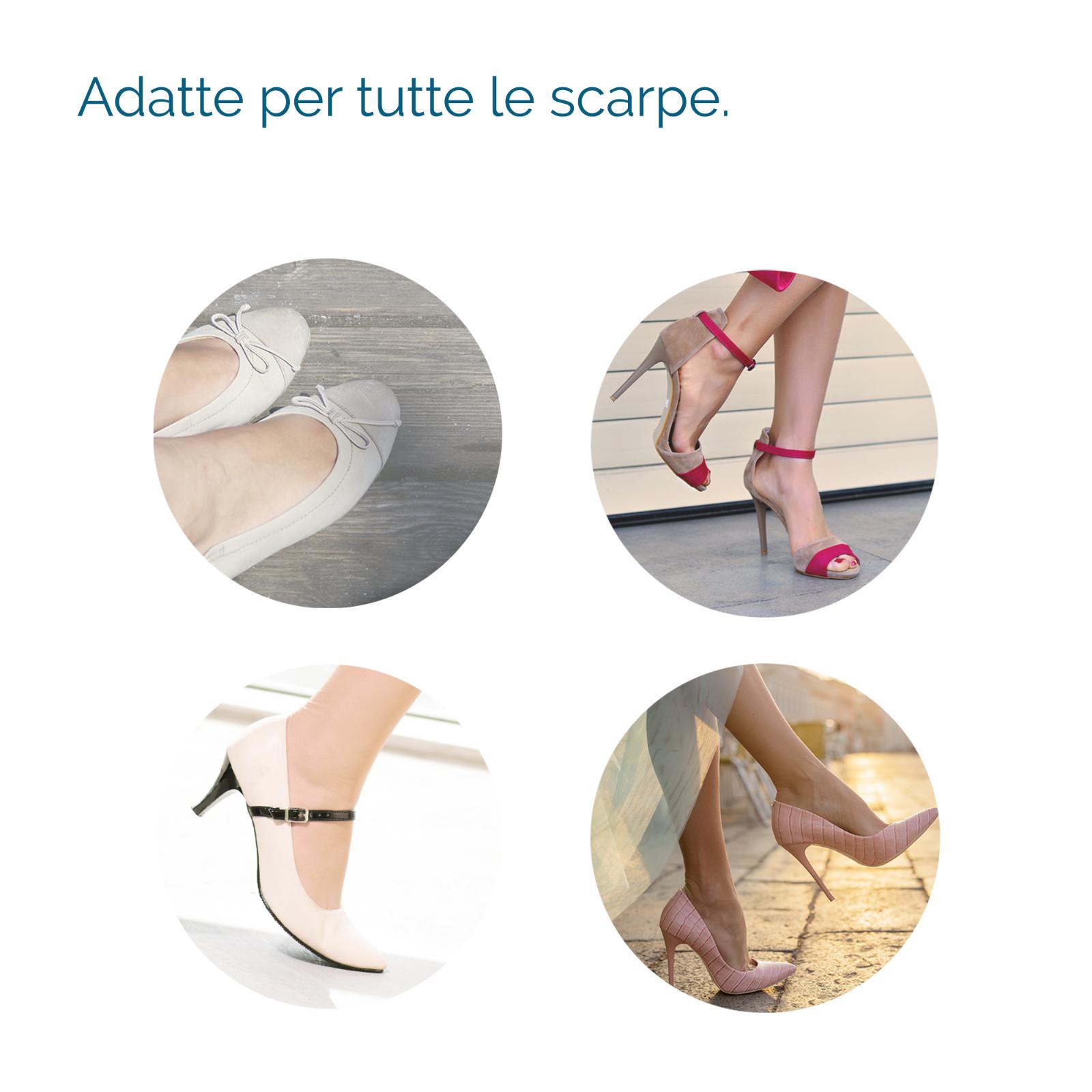 2 Solette TACCHI ALTI Donna Invisibili Pedicure SCHOLL GEL ACTIV Scarpe 6