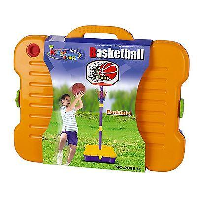 Free Standing Basketball Set Hoop Net Backboard Carry Case 161cm Childrens Kid 4