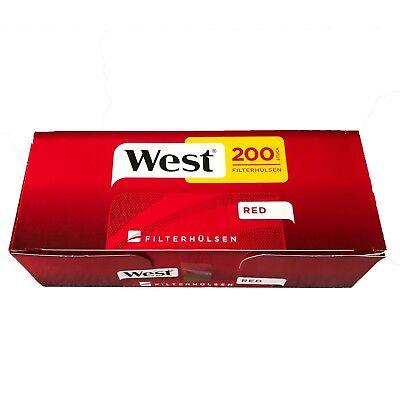 4 WEST 150g Tabak / Volumentabak Beutel, 2000 Hülsen, 3 Feuerzeuge 4