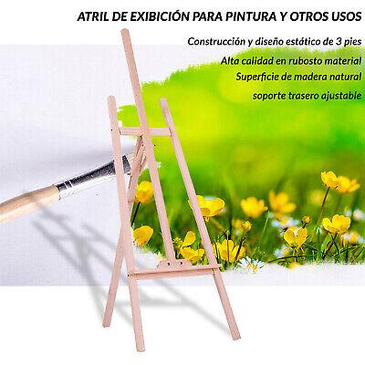 Atril De Madera Caballete Soporte Tripode Cuadro Pintura Oleos Pizarra Partitura 2