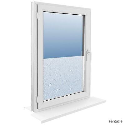 90 cm Fensterfolie Statische Sichtschutzfolie Milchglasfolie Glasdekorfolie 11