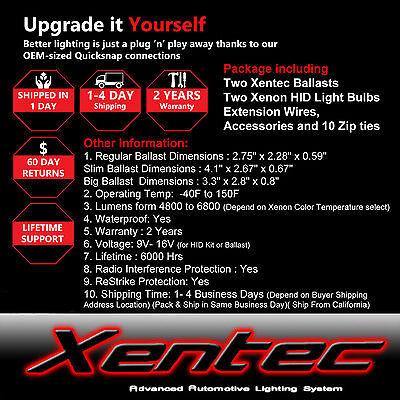 Xentec HID XENON 55W Headlight Hi Low Kit H4 H7 H11 H13 9003 9004 9005 9006 9007 6