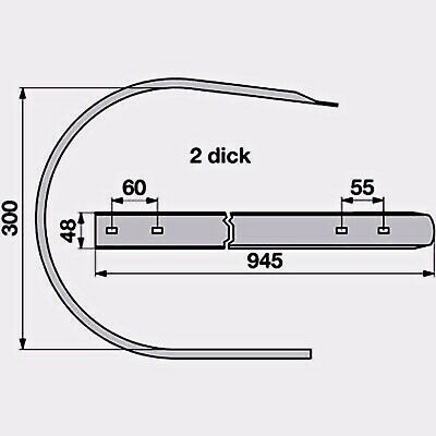 Welger RP12-RP15 Segmentblech PickUp Blech Segment Abstreifer Nr. 1712.42.05.04