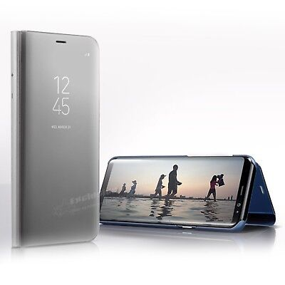 For Samsung Galaxy S7 S8 S9 Plus Smart View Mirror Leather Flip Stand Case Cover 4