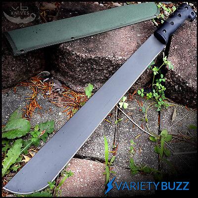 "23"" SURVIVAL JUNGLE HUNTING MACHETE KNIFE w/ SHEATH Military Fixed Blade Sword 2"